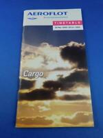 AEROFLOT RUSSIAN INTERNATIONAL AIRLINES CARGO TIMETABLE MARCH OCTOBER 2000