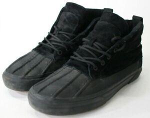 VANS Scotchgard Protection 3M Black Unisex Shoes Size US Men 10.5 - Women 12