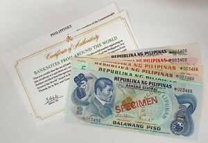 PHILIPPINES 1979 ... 2 - 100 PISO ... COLLECTOR'S SPECIMEN BANKNOTES