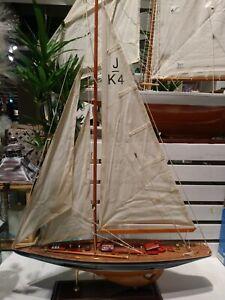 Endeavour، Segelyacht Segelschiff Modell Standmodell Maritim Holz Yacht Deko neu