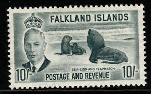 FALKLAND ISLANDS SG184 1952 10/= GREY MNH