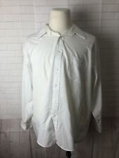 Joseph Feiss Men's Big and Tall White Solid Cotton Dress Shirt 18.5-34/35 $98