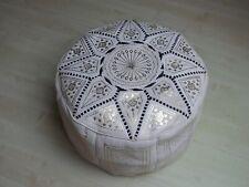 Oriental Cojín Puff Cojín de Suelo Taburete Cuero Cojín XXL Ø 70cm - 905