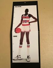 "Rare HTF Manute Bol Nike Poster Card Oversized Growth Chart 5"" X 13"""