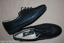 Womens Casual Shoes BLACK LEATHER Lace Up JOY SHOES Cushioned Insoles SIZE 6.5 M
