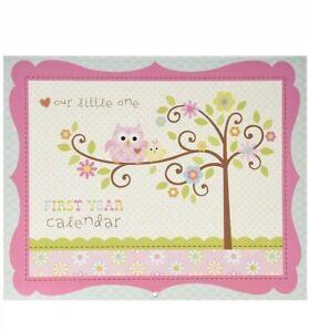 Happy Baby Girl First Year Calendar CR Gibson Keepsake Calendar