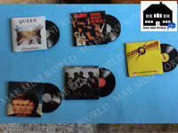 QUEEN. 9 Miniature music Vinyl record. Scale 1/12.