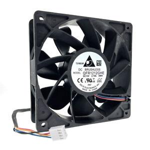 Delta QFR1212GHE,High Speed GPU Miner Mining Cooling Fan 120X120X38mm 6000RPM