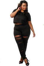 Abito Pantaloni Taglie forti Grandi Curvy Formosa Plus Size Top Pant Set XXL