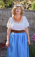 Medieval Skirt Renaissance Sz L Xl Costume Women Cosplay Peasant Overskirt Blue