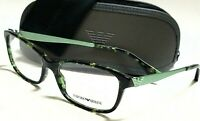 New Authentic EMPORIO ARMANI EA3031 5227 Green Havana 55/17/140 RX Eyeglasses