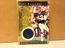 "2001 UD  LEGENDS PAST PATTERNS  ""JIM  KELLY "" GAME USED JERSEY...BILLS..!!!!"