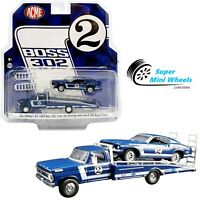 ACME x Greenlight 1/64 Ford F-350 #2 Ramp Truck & 1969 Ford Mustang Boss 302 #2