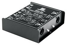 Passive Stereo DI Box mit 2 Kanälen für Signalumwandlung von Instrument zu Mixer