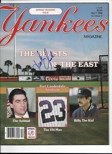 1988 NY Yankees Spring Training Program Autographed by Jack Clark
