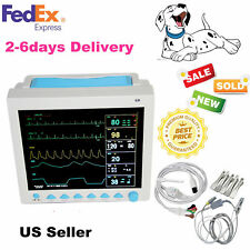 For VET ICU CCU Veterinary PATIENT MONITOR ECG EKG SPO2 PR NIBP 6 PARAMETERS US