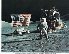 Official NASA Photo - Schmitt Stands Beside Flag At Apollo 17 Landing Site