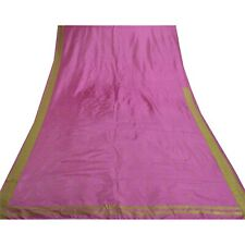 Sanskriti Vintage Purple Indian Sari 100% Pure Silk Sarees Woven Craft Fabric