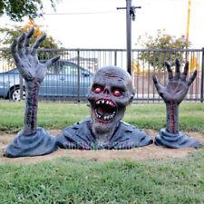 SPIRIT HALLOWEEN GROUND BREAKER ZOMBIE yard prop decoration skeleton creepy RARE