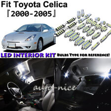 8x White LED Interior Lights Package Kit For 2000- 2003 2004 2005 Toyota Celica