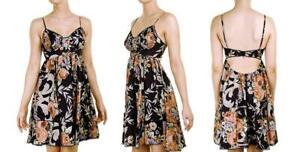 New ZIMMERMANN Keeper Black Rococo Floral Print Silk Lace Trim Bustier Dress 0