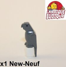Lego - 1x Animal perroquet Parrot bird gris foncé/dark bluish gray 2546 NEUF