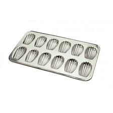 "Gobel Madeleine Mold 12 Cavities Each cavity: 3-1/4""X2"" size of pan: 15-1/2""X9"""