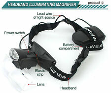 1.0x~6.0x Headband Loupes Head Magnifying Glass With 2 LED for Surgical Dental