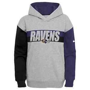 Baltimore Ravens Nike Youth Boys Heritage Tri-Blend Pullover Hoody Sweatshirt