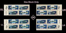 US 1569-1570 Space 10c mail early zip block MNH 1975