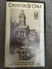 Commuting By Cable VHS TAPE (Melbourne Australia Trams Documentary) * RARE *
