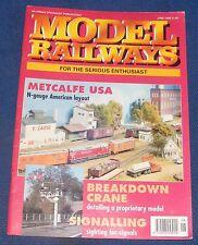 MODEL RAILWAYS JUNE 1992 - METCALFE USA
