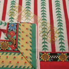 Mary Engelbreit Vtg 90s Daisy Kingdom double border print cotton fabric BTHY