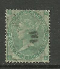 1862/4 Sg 90, 1/- Green (CF) Plate 1 = Plate 2, Fine used. {TT1578-46}