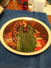 1984 NORMAN ROCKWELL MOTHERS DAY PLATE #9 GRANDMA'S COURTING DRESS KNOWLES