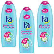 (13,27 €/L ) 3 x 250ml FA Summertime Moments Gel douche parfum de concombre et