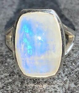 ❣️ Indischer Mondstein 18x13 - Solitär Ring - QVC - 925 Silber - 45,-- TOP