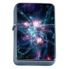 Universe Cosmos Em1 Flip Top Oil Lighter Wind Resistant With Case