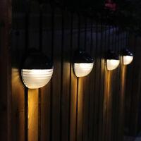 Solar Powered Wall Mounted LED Light Outdoor Garden Landscape Fence Yard Lamp
