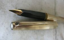 GORGEOUS VINTAGE  MONTBLANC 1246 FOUNTAIN PEN GOLD PLATED - SOLID GOLD 18K NIB