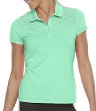 NEW FILA SPORT Women's Laser Cut Short Sleeve Golf Polo Size Medium $40 Retail