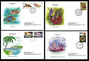 Royal Commonwealth Society Lot of 4 Topical Envelopes Fish, Butterflies(BI#BX30)