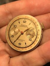 Landeron Movement Chronograph Cal 48 Original Dial Working For Parts Repair