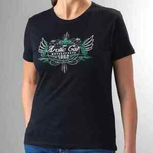 New Arctic Cat Women's Bamboo Motorsport Wings T-Shirt ~ Black ~M~ # 5263-922