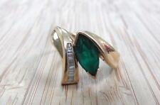 1.15ctw Emerald & Diamond 14KT Solid Yellow Gold Ring Size 6.75 ~ CS-1756