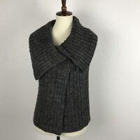 Ann Taylor Loft Gray Brown Wool Blend Sweater Vest Sz S