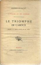 LE TRIOMPHE DE L'AMOUR - L'ITALIE AU XVe SIECLE - ALFRED BUSQUET - 1885
