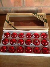 Vidrio Vintage Navidad Bolas En Caja Pirámide Jumbo Hecho en EE. UU.