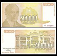 YUGOSLAVIA 500000 (500,000) Dinara, 1994, P-143, UNC World Currency