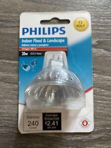 Philips 419317 20Watt MR16 Landscape & Indoor Flood Light Halogen Light Bulb 266